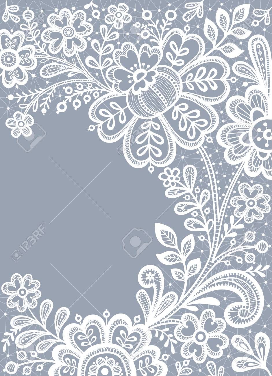 White lace. Floral Background Lace. Wedding invitation card with lace. Stock  Vector - e5477ee6c
