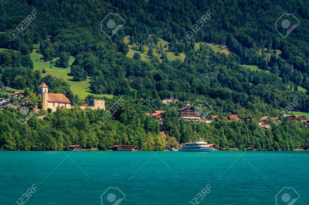 Lake Brienzersee in the summer  Interlaken, Bernese Oberland,