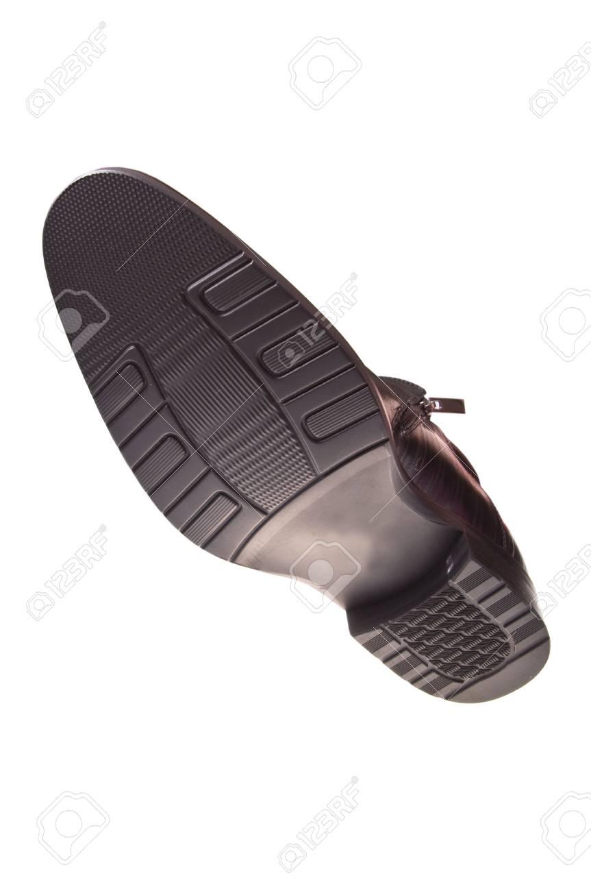 black shoe  isolated on white background Stock Photo - 5972331