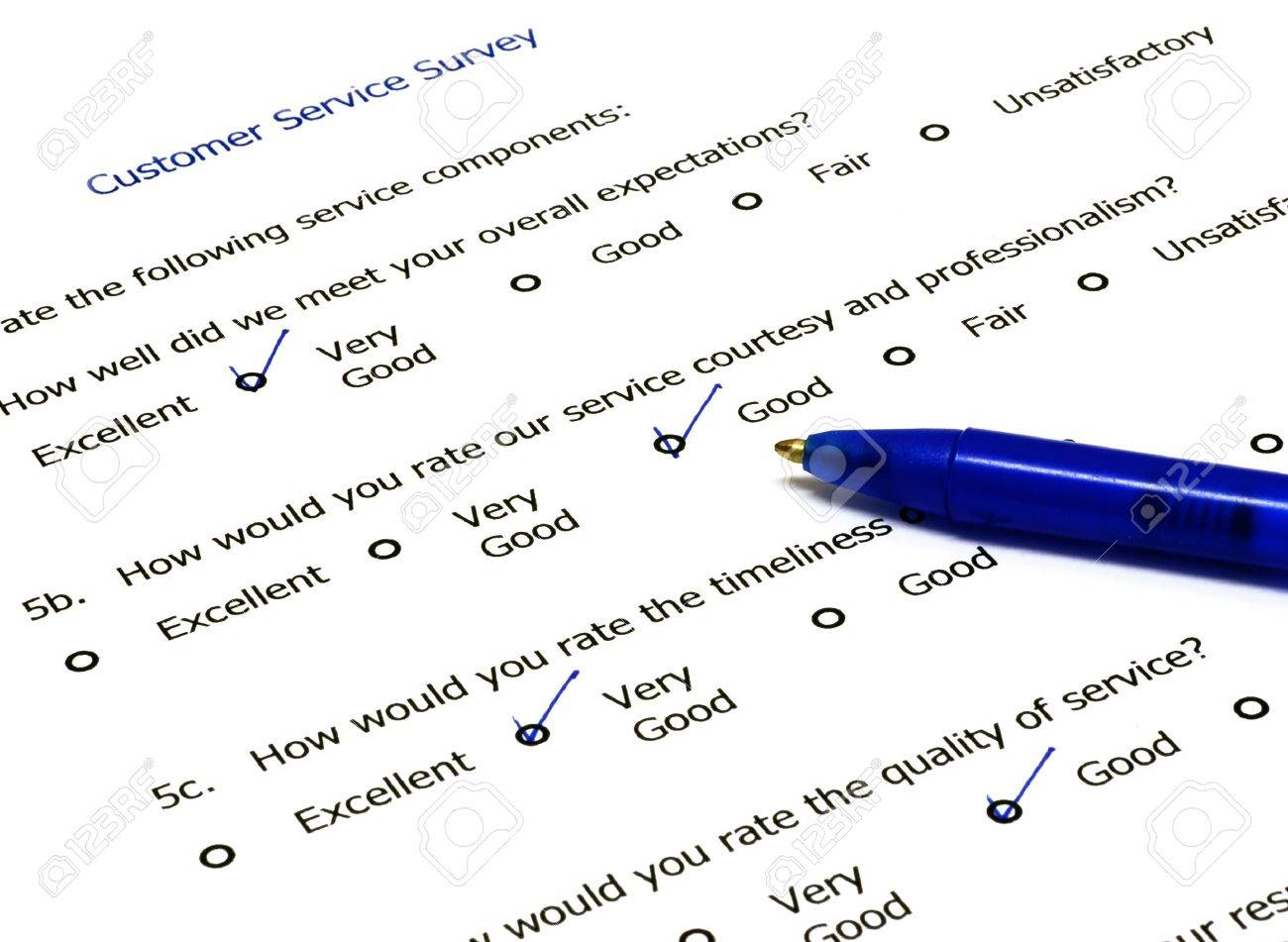 Customer Feedback Form With Pen On The Side Photo Picture – Client Feedback Form