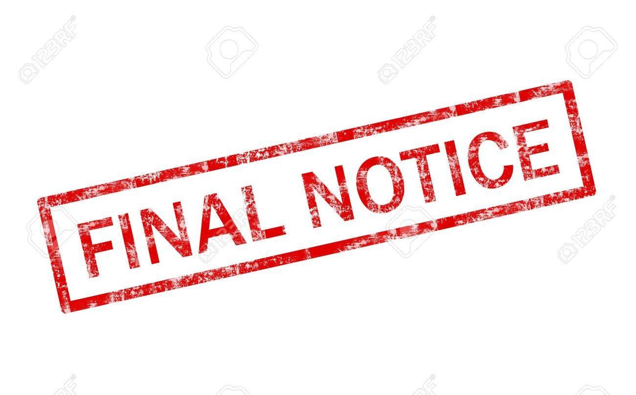 Grunge final notice stamp Stock Photo - 4380568