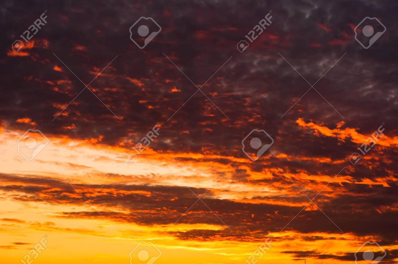 Evening scene of an urban area with red clouds Stock Photo - 10880129
