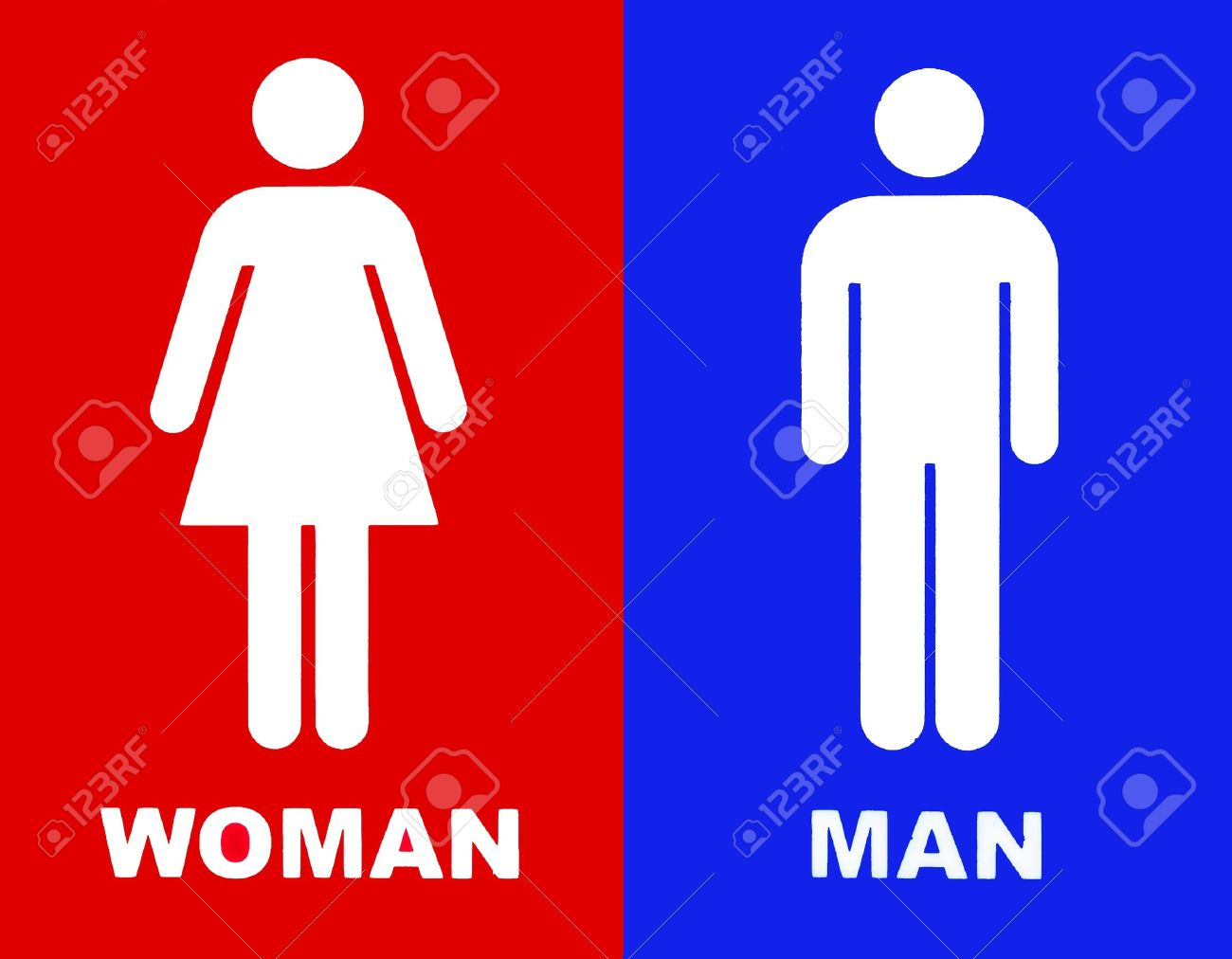 Art of a Toilet sign in red and blue Stock Photo   15996838. Art Of A Toilet Sign In Red And Blue Stock Photo  Picture And
