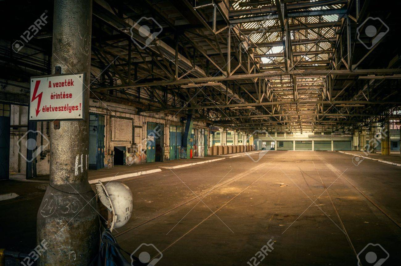 An abandoned industrial interior in dark colors Stock Photo - 17095853