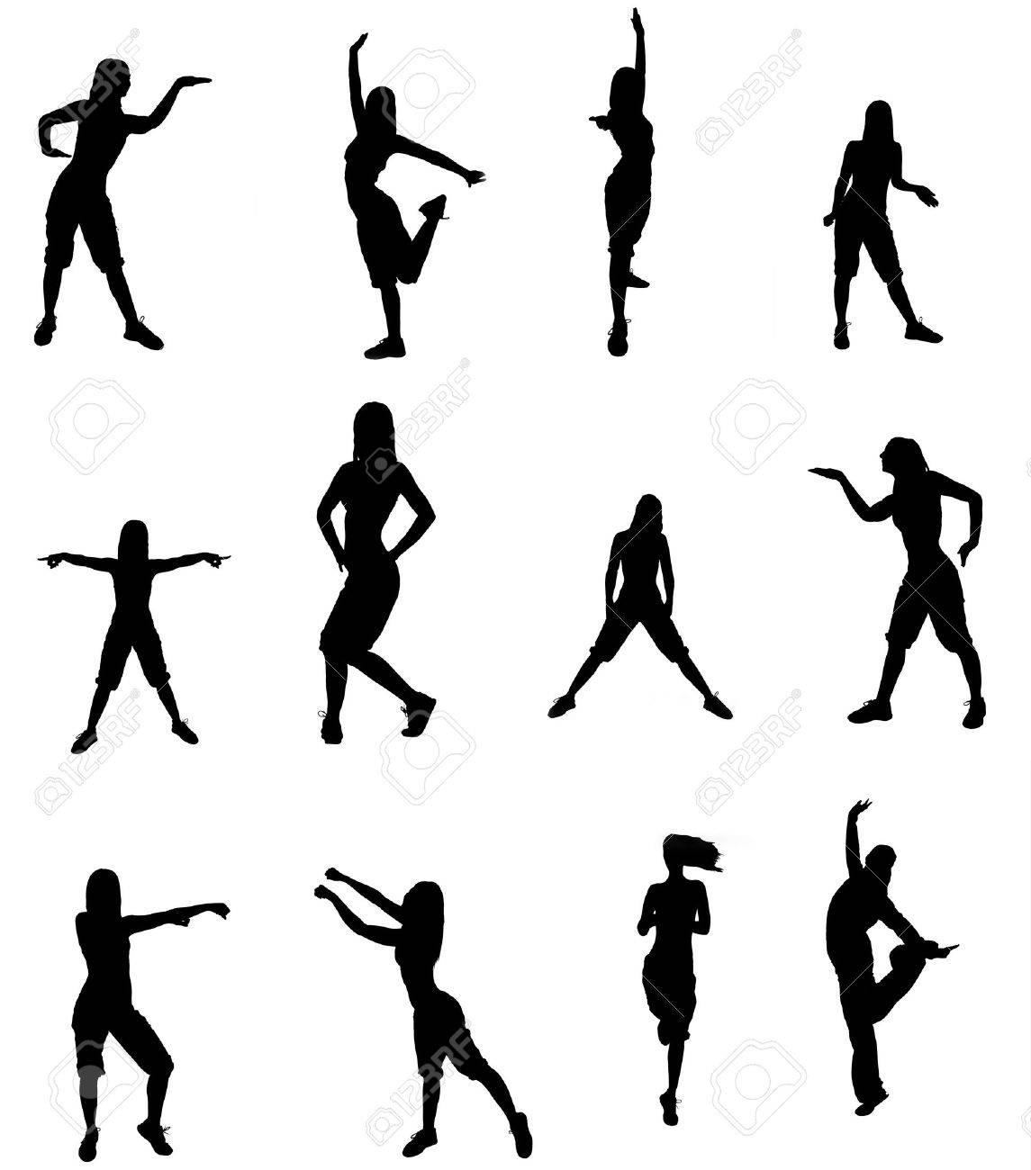 Woman Silhouette Logo Silhouette of a Dancer Woman