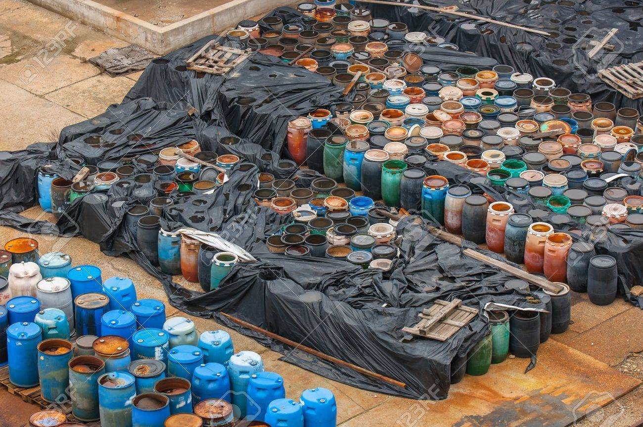 Photo of a Chemical waste dump with a lot of barrels Stock Photo - 17022463