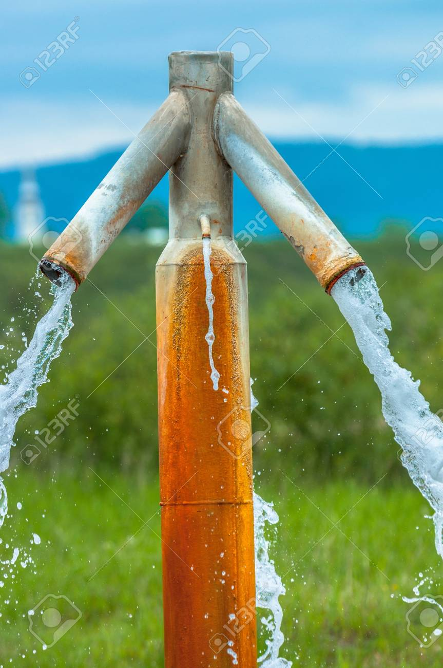 Water flowing from outdoor tap and getting wasted Stock Photo - 17683514
