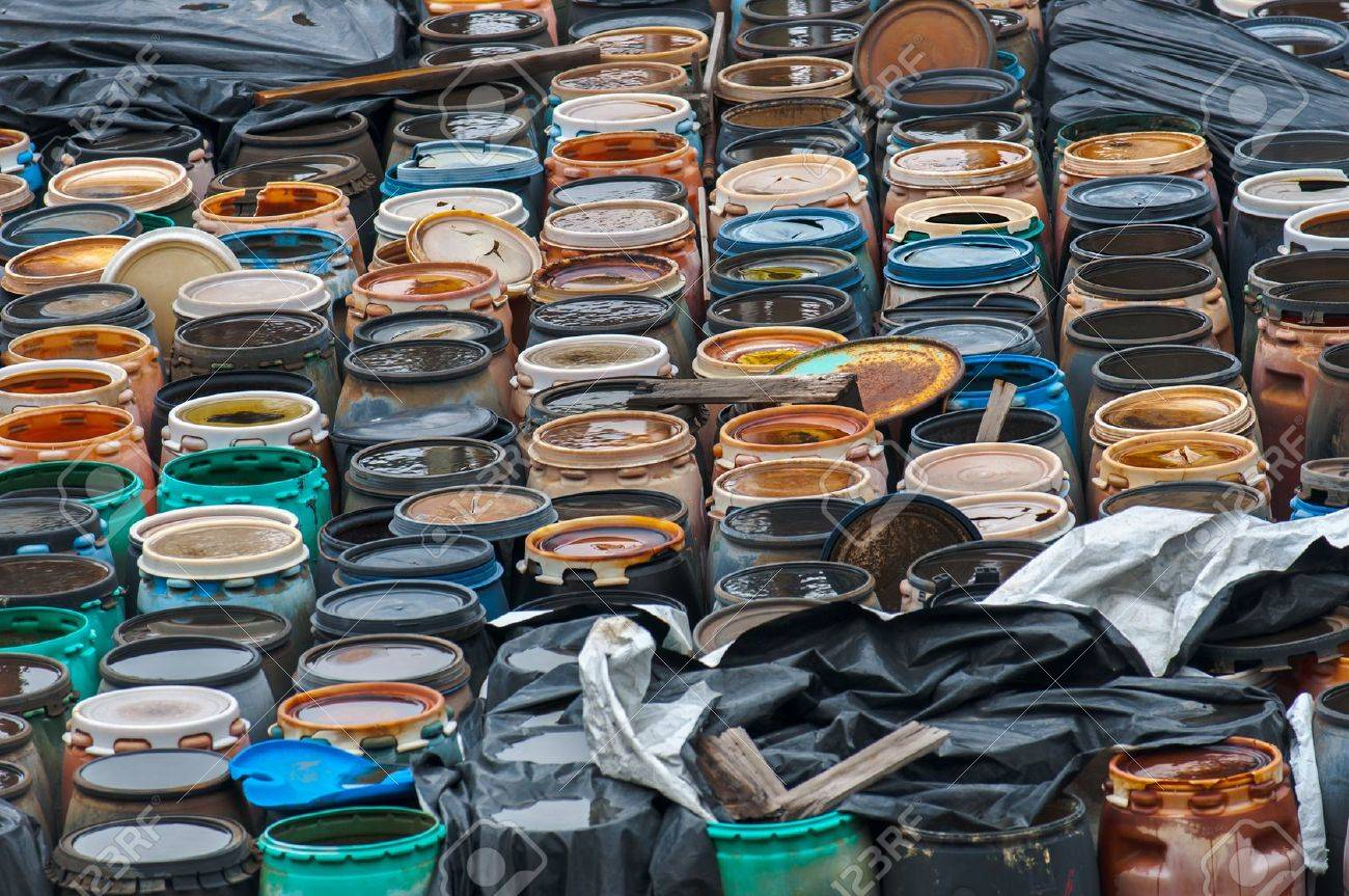 Photo of a Chemical waste dump with a lot of barrels Stock Photo - 17684391