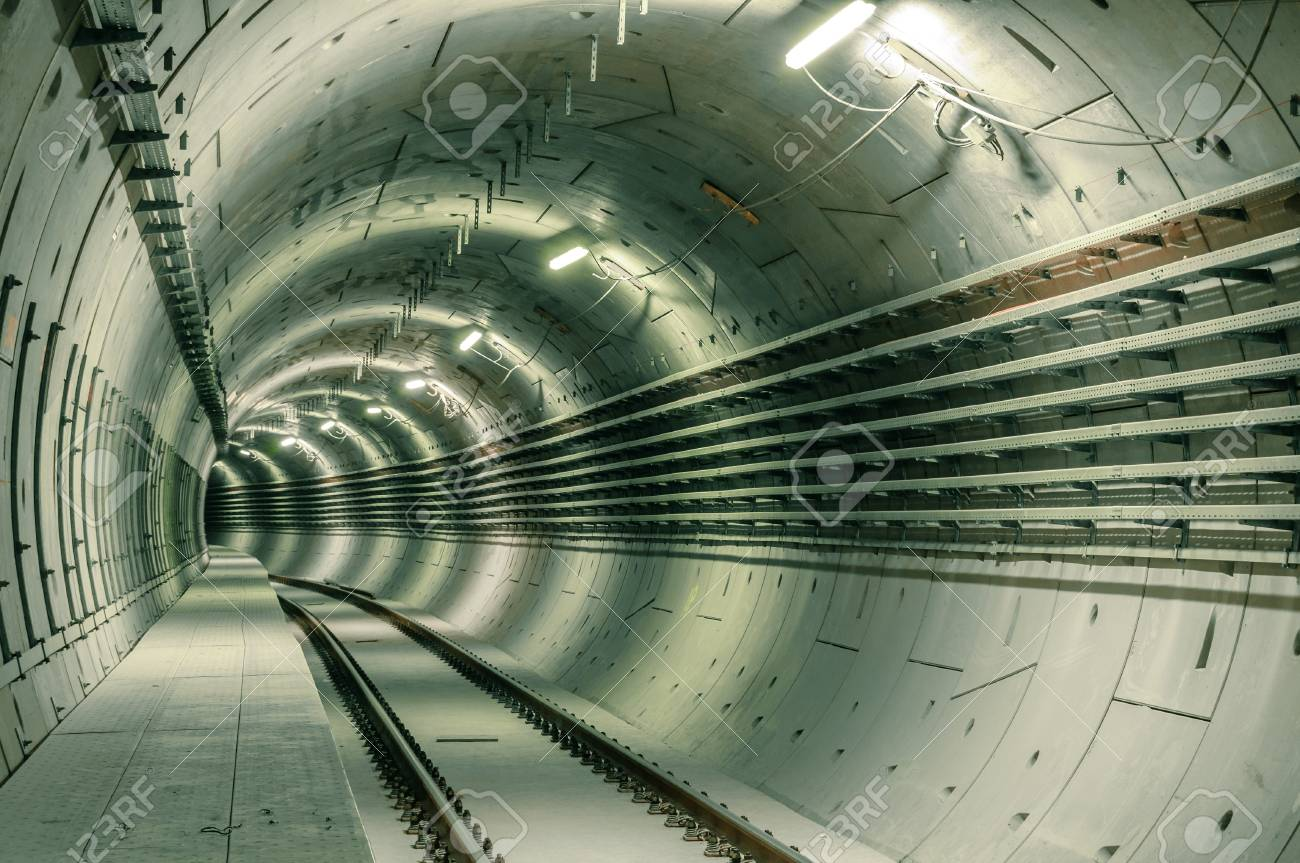 Underground facility with a big tunnel leading deep down Stock Photo - 17683676