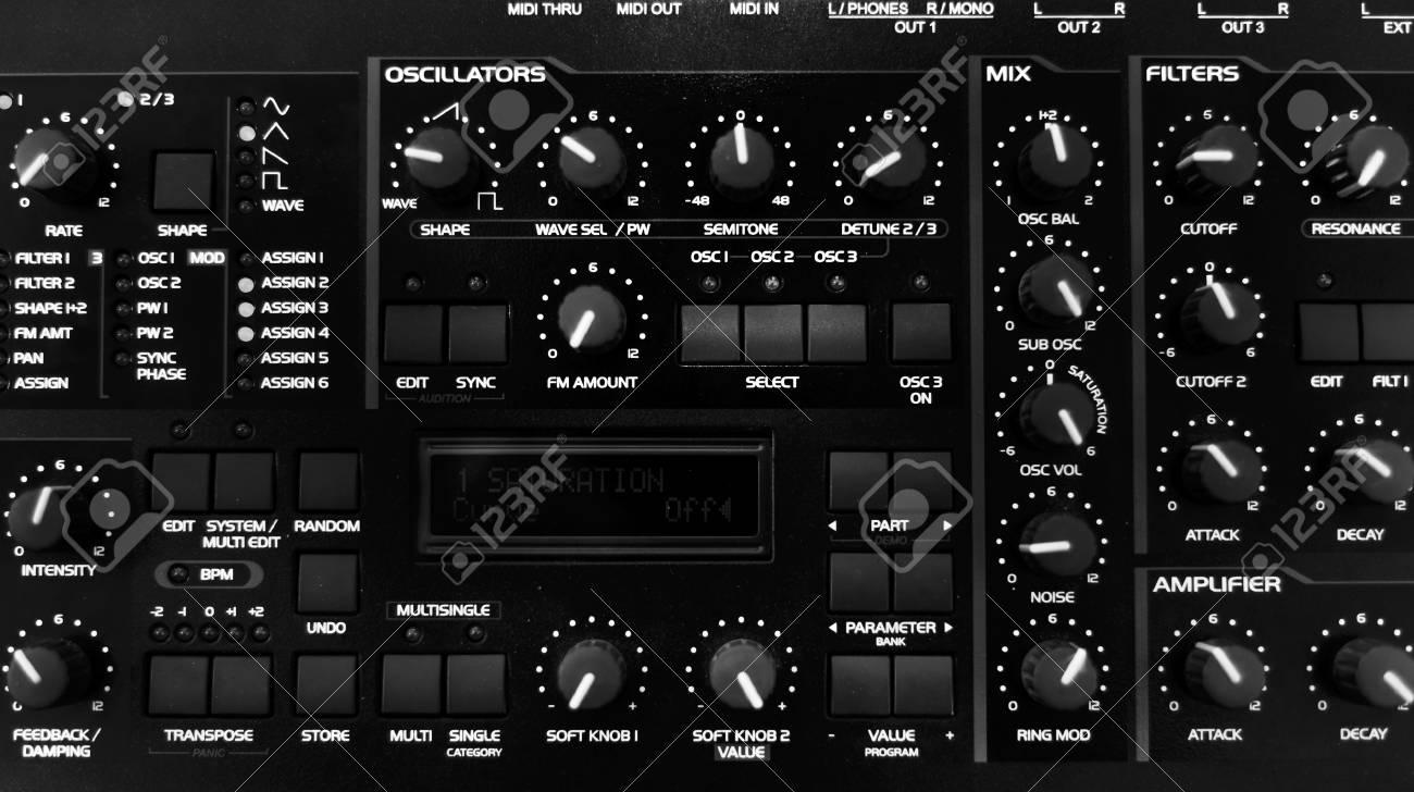 Closeup photo of an audio mixer in a studio Stock Photo - 21692241