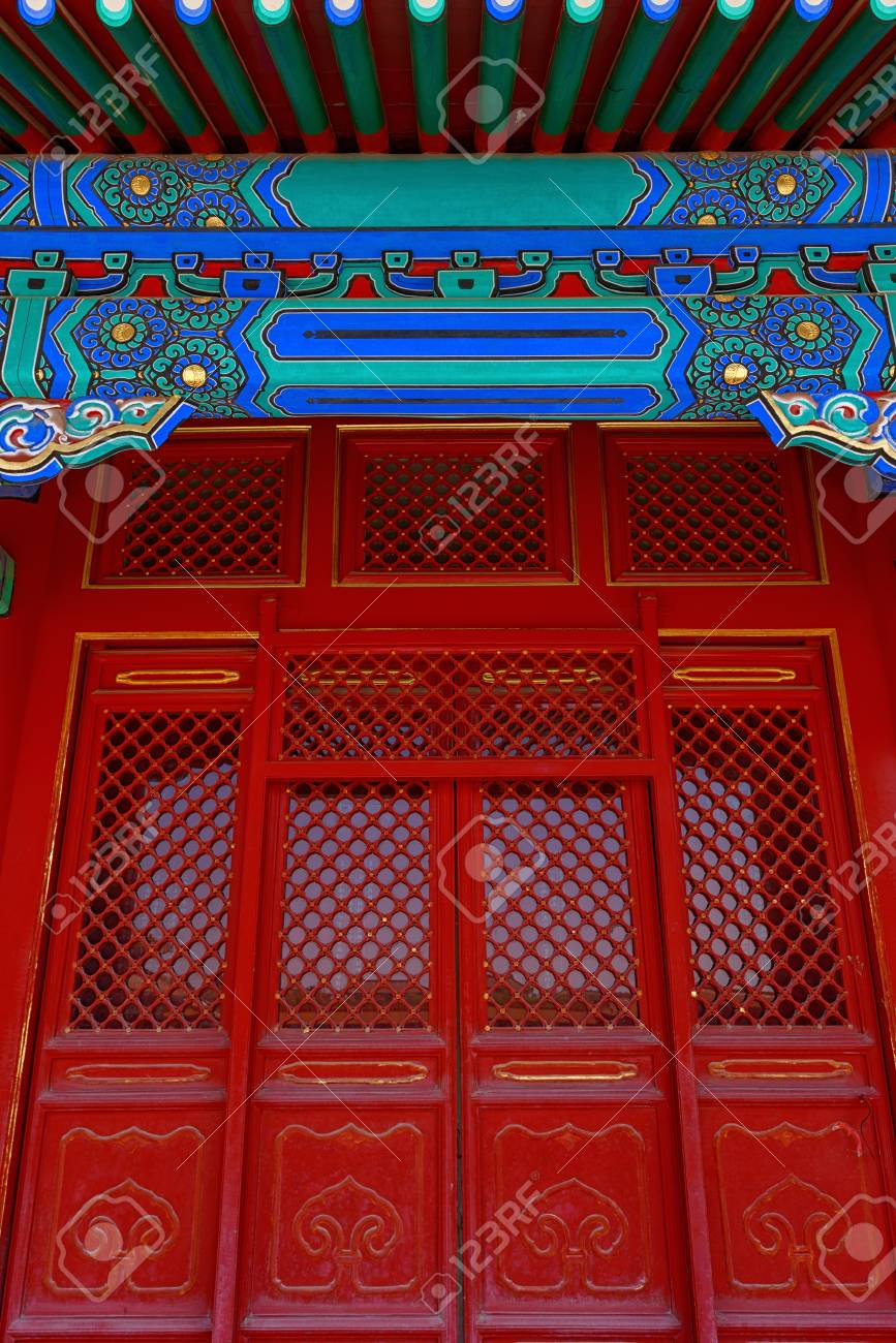 Gateway with red Chinese doors Stock Photo - 70402000  sc 1 st  123RF.com & Gateway With Red Chinese Doors Stock Photo Picture And Royalty Free ...