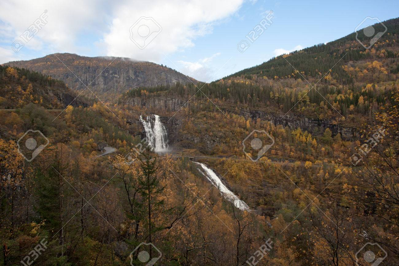 A beautiful autumn landscape west in Norway. - 81404373