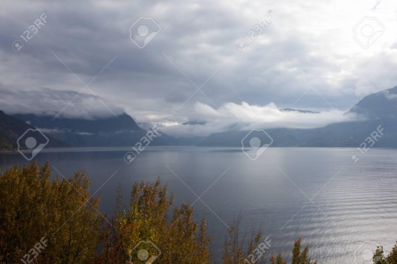 Beautiful autumn landscape on western Norway - 81276616