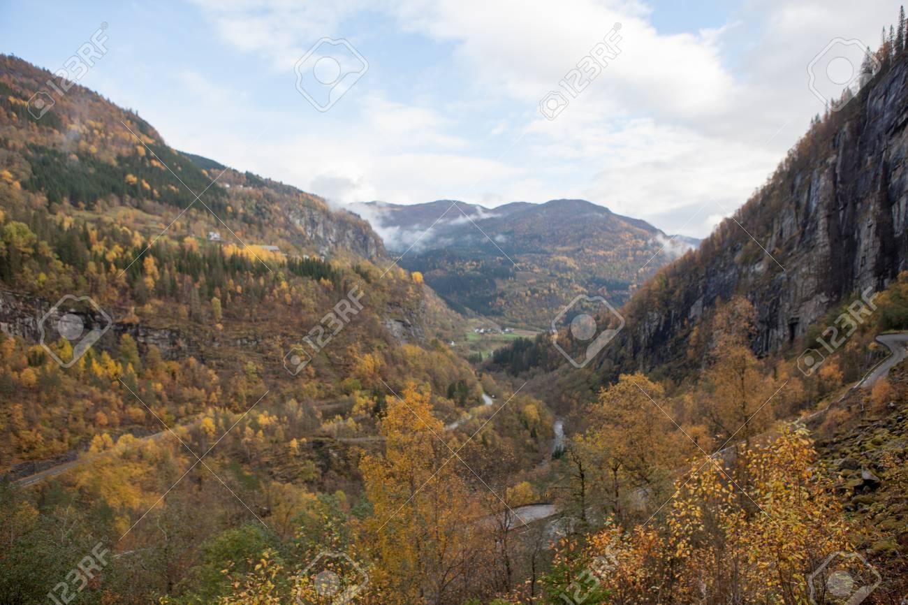 Beautiful autumn landscape on western Norway - 81404454