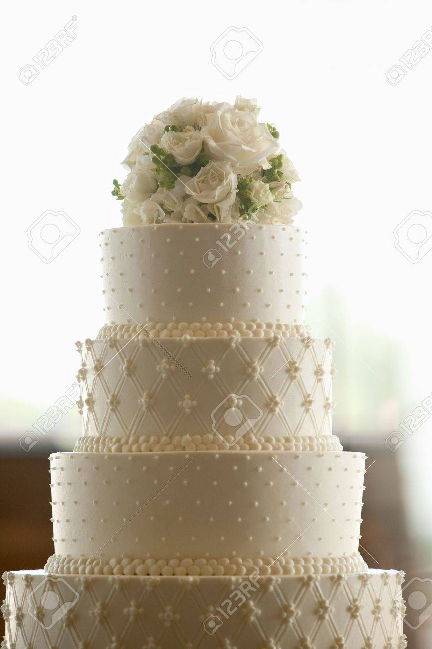 Wedding Cake With Flowers On Top Stock Photo Picture And Royalty Free Image Image 10748799