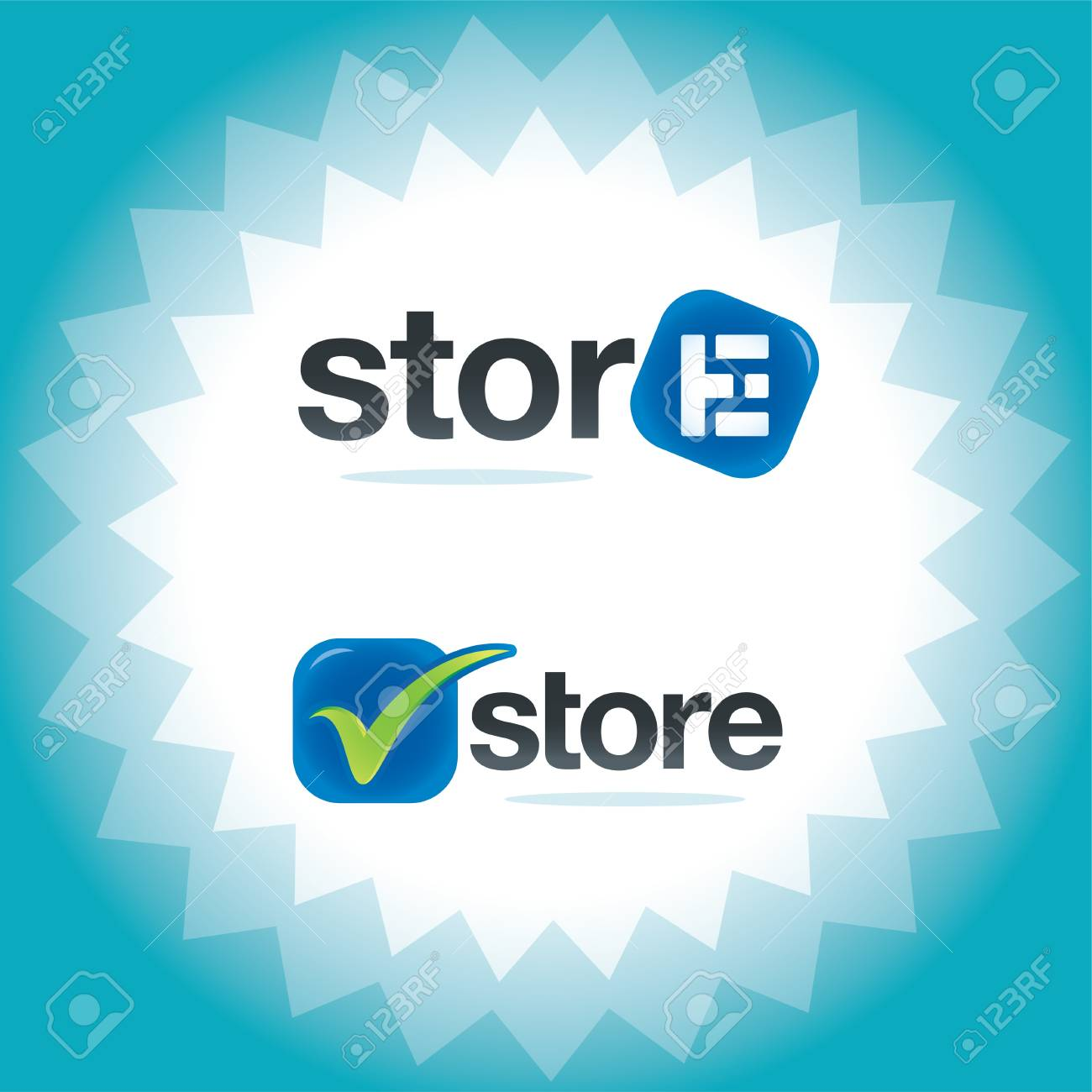 Logos for the Internet Store Stock Vector - 15303878