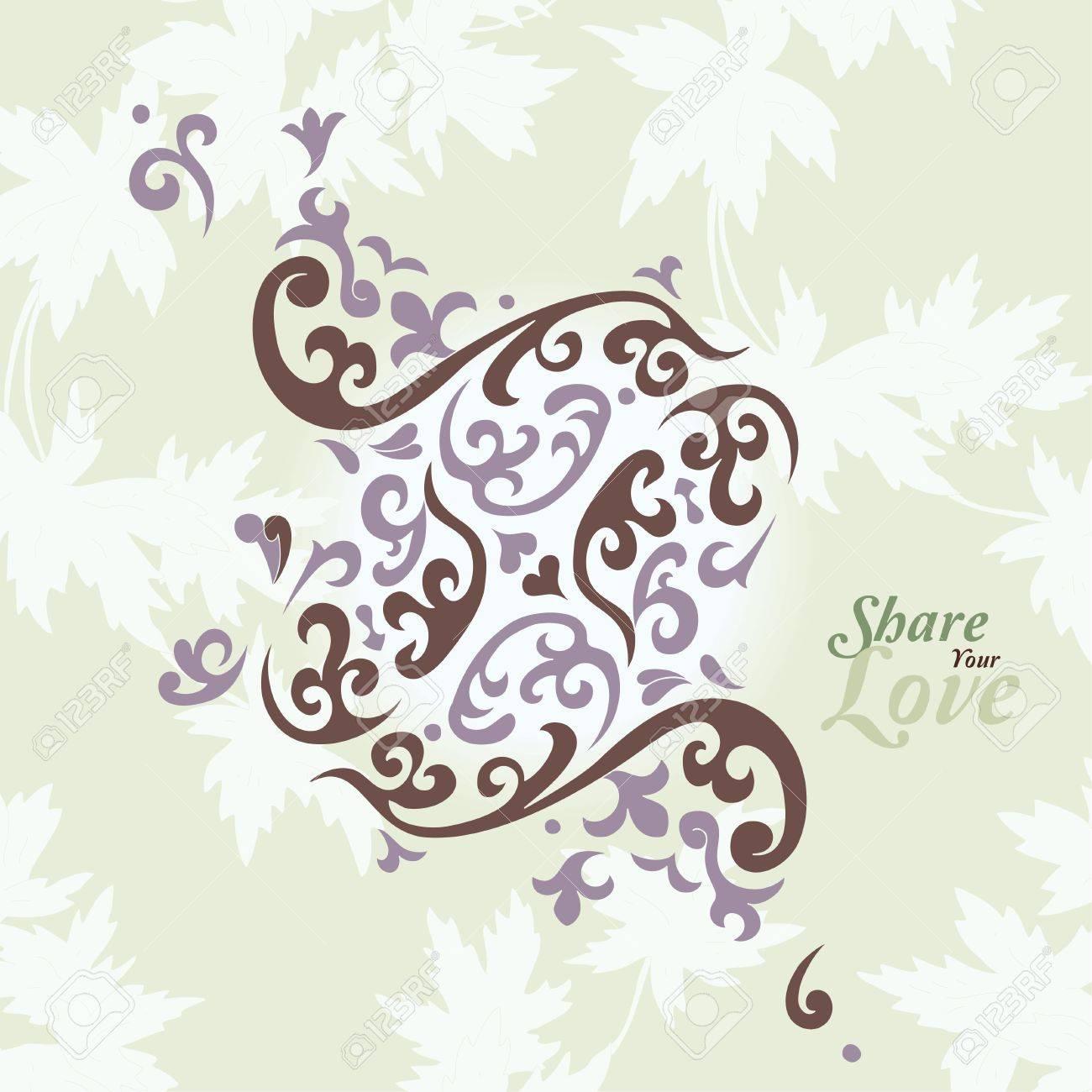 Amour Fleurs Carte Elegante De Style Japonais Spa Tatouage Clip