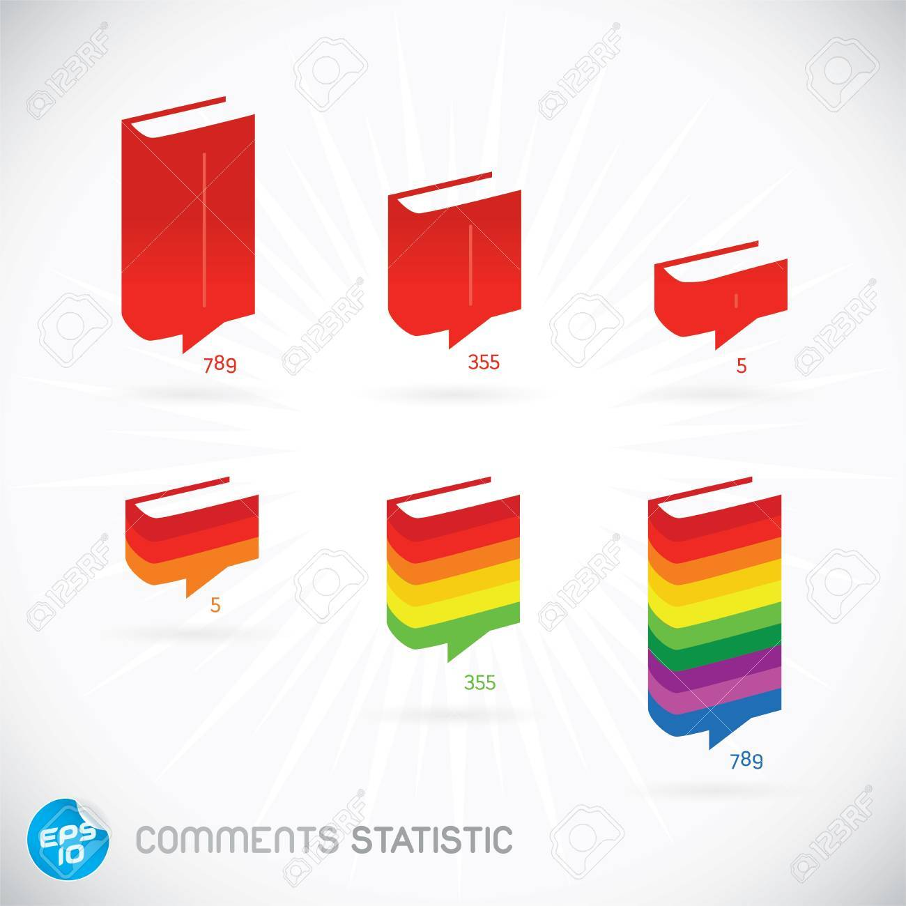 Comments Statistic Symbols, Buttons, Sign, Emblem, Logo for Web Design, User Interface, Mobile Phone, Baby, Children, People Stock Vector - 20014551