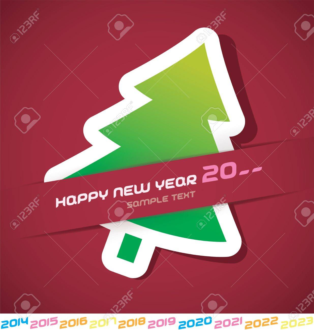 Modern Merry Christmas, New year 2014, 2015, 2016, 2017, 2018, 2019, 2020, 2021, 2022, 2023 Card, Badge, Icon, Symbol Stock Vector - 20423455