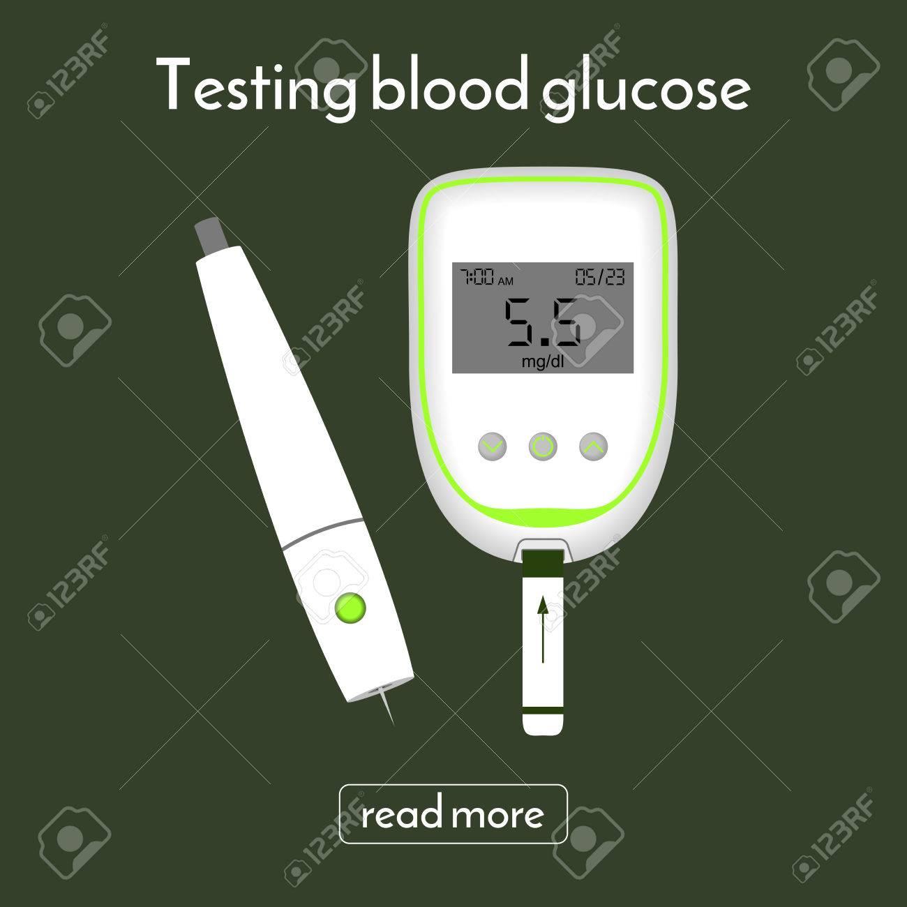 Gerät Für Blutzucker Und Eine Lanzette Zu Messen Zuckermessgerät