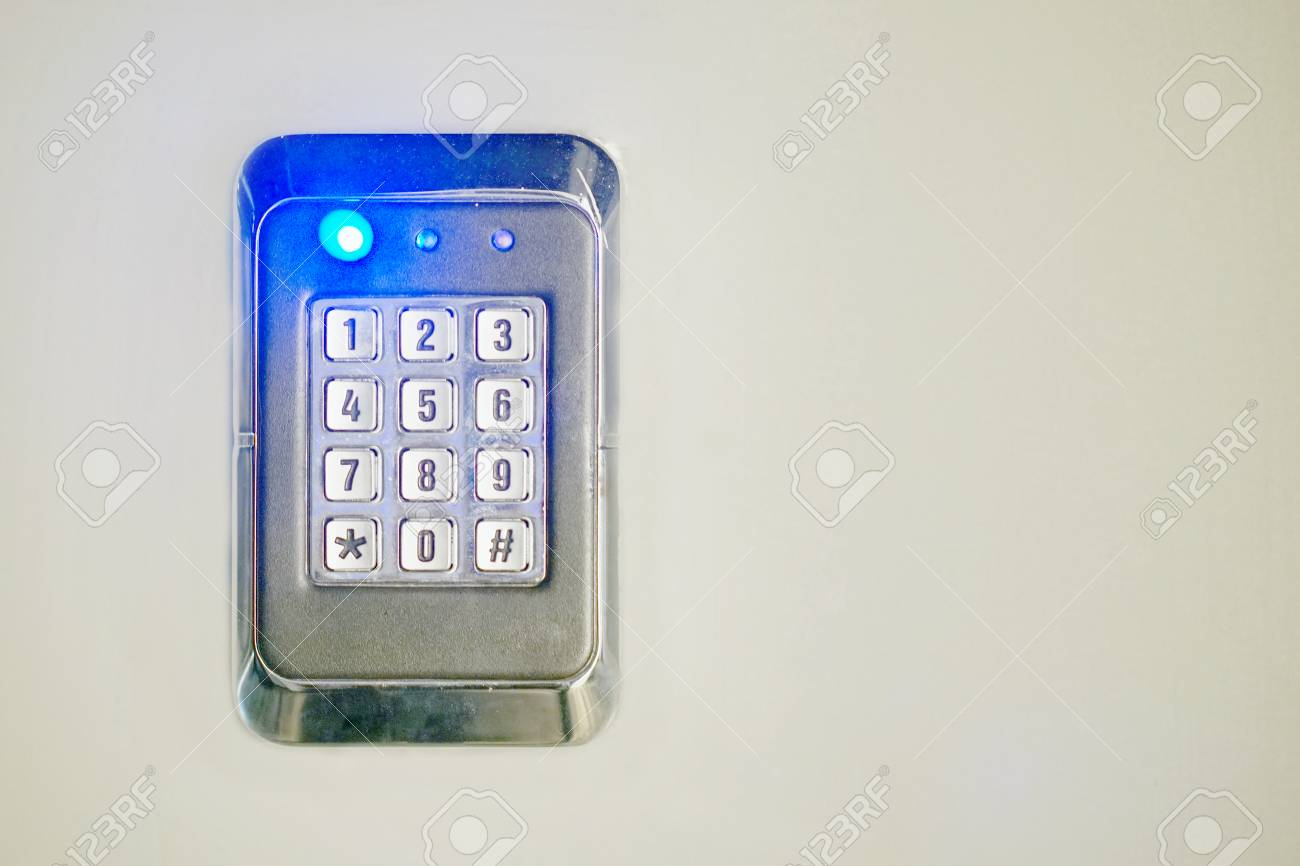 Secure password on keyboard for opening home house door  Password
