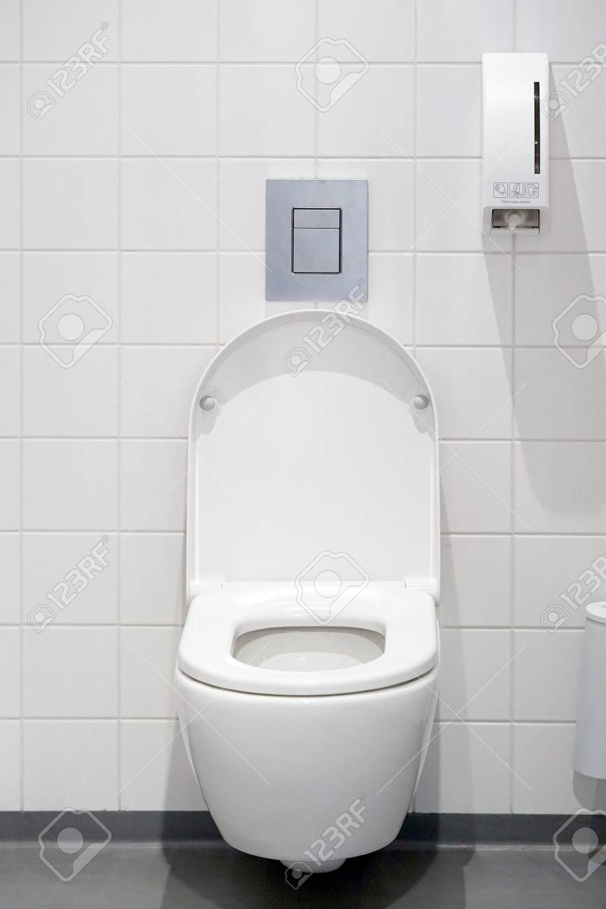 Close Up Of Toilet Bowl White Toilet In The Bathroom Public Toilet