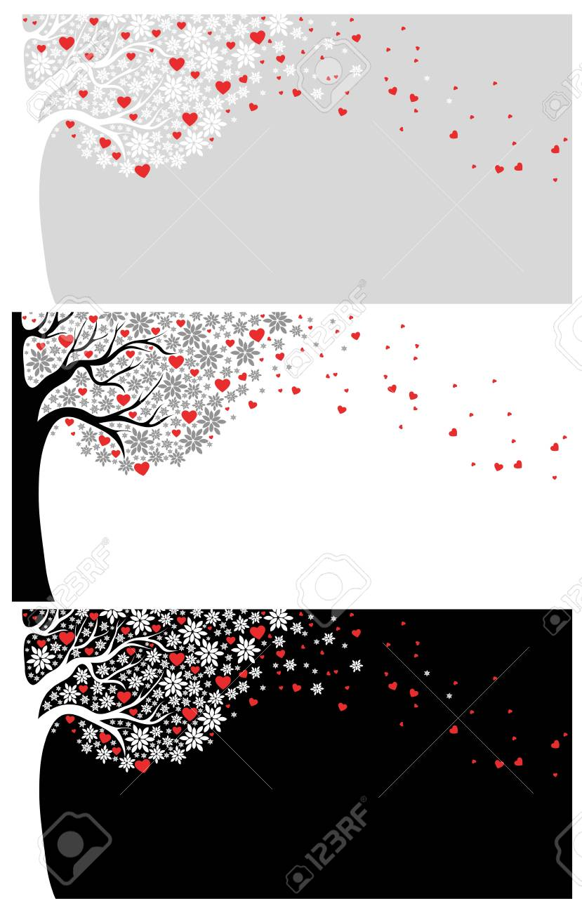 love backgrounds with tree and hearts Stock Vector - 17260617