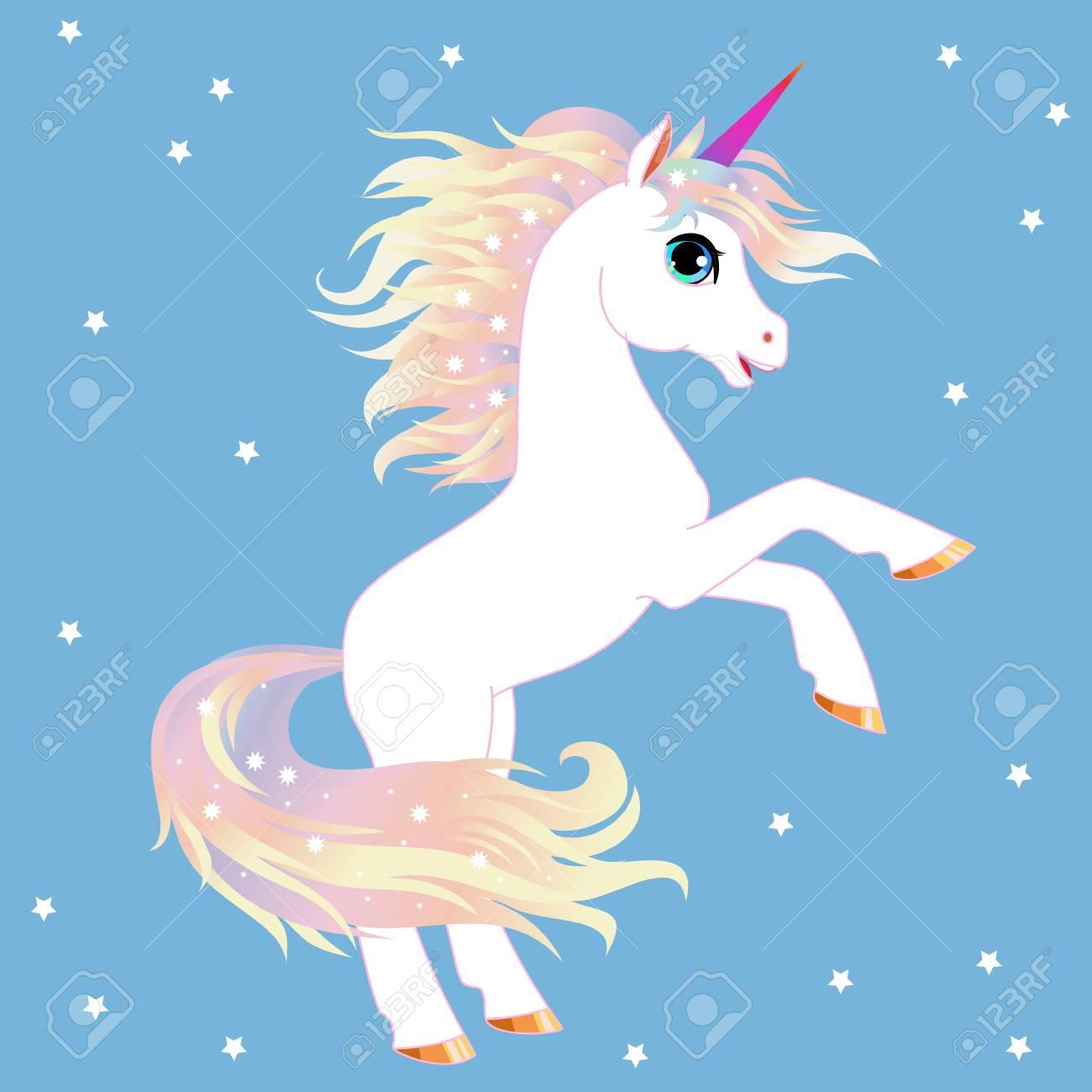 Unicorn Vector Illustration Magic Fantasy Horse Design For Royalty Free Cliparts Vectors And Stock Illustration Image 93517578