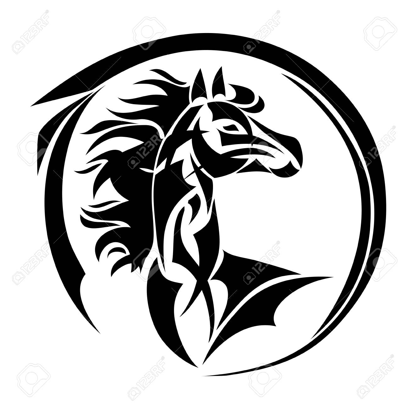 horse head vector tattoo stylized illustration for design of rh 123rf com horse head vector free download horse head vector png