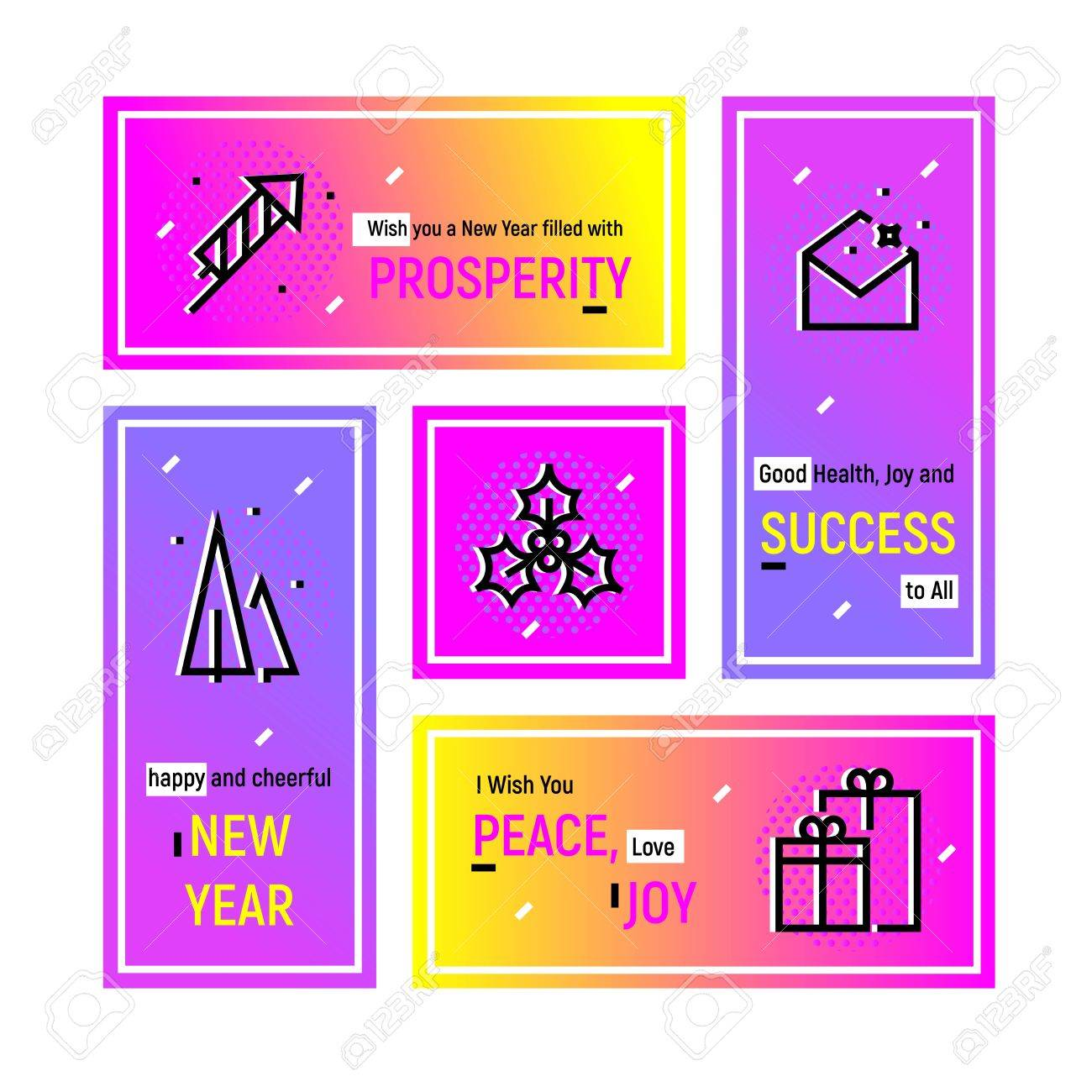 vector vector greeting design concept for email newsletter and formal corporate greeting new year 2017 web template super bright collection