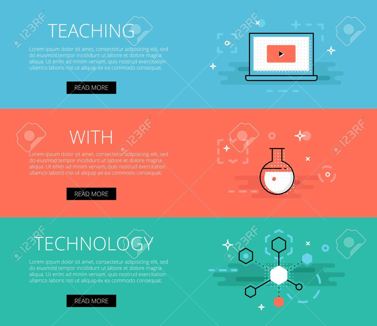 Educational Website Banners Gift Shop Banners