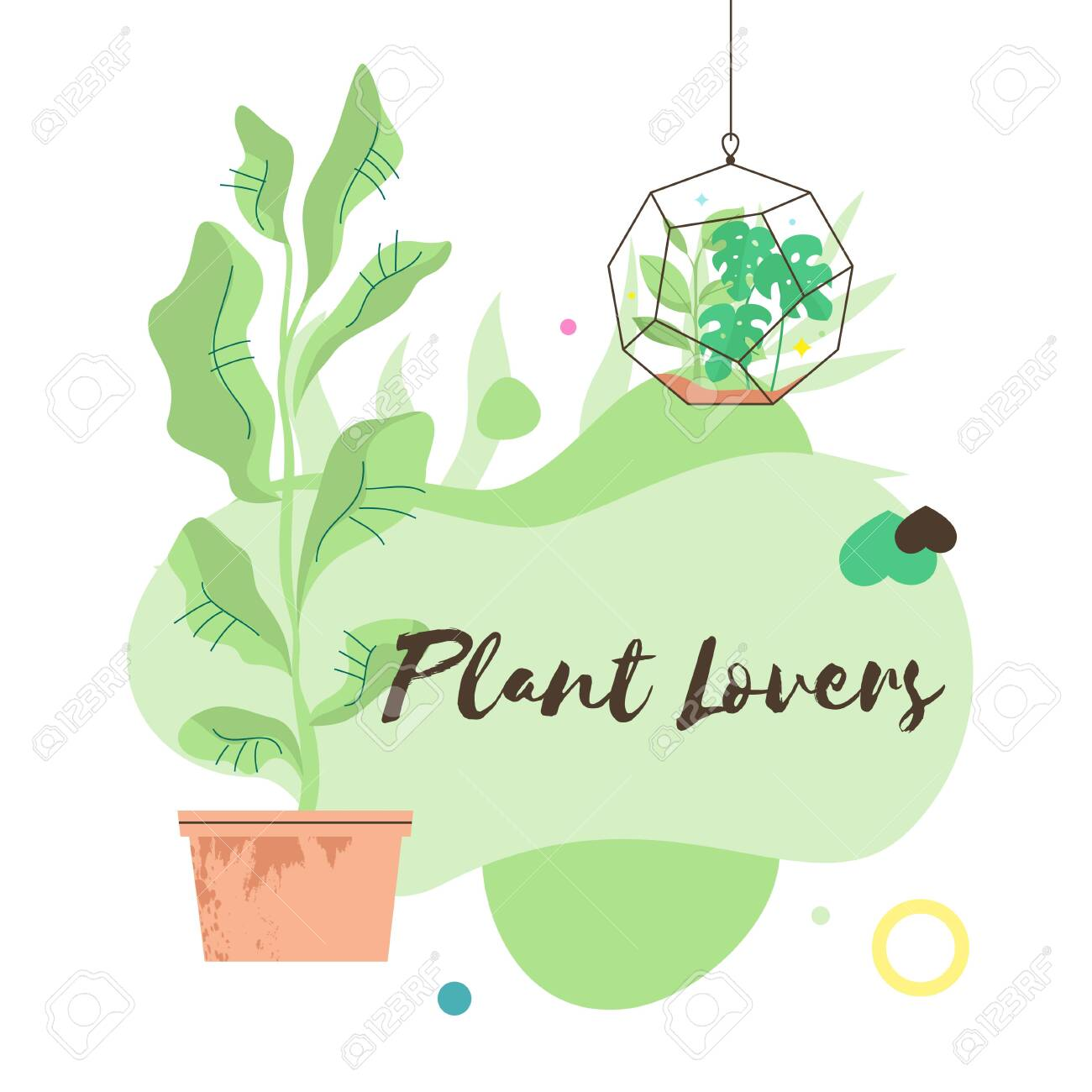 Terrarium In Linear Style Filled House Plants Indoor Garden Royalty Free Cliparts Vectors And Stock Illustration Image 140517500