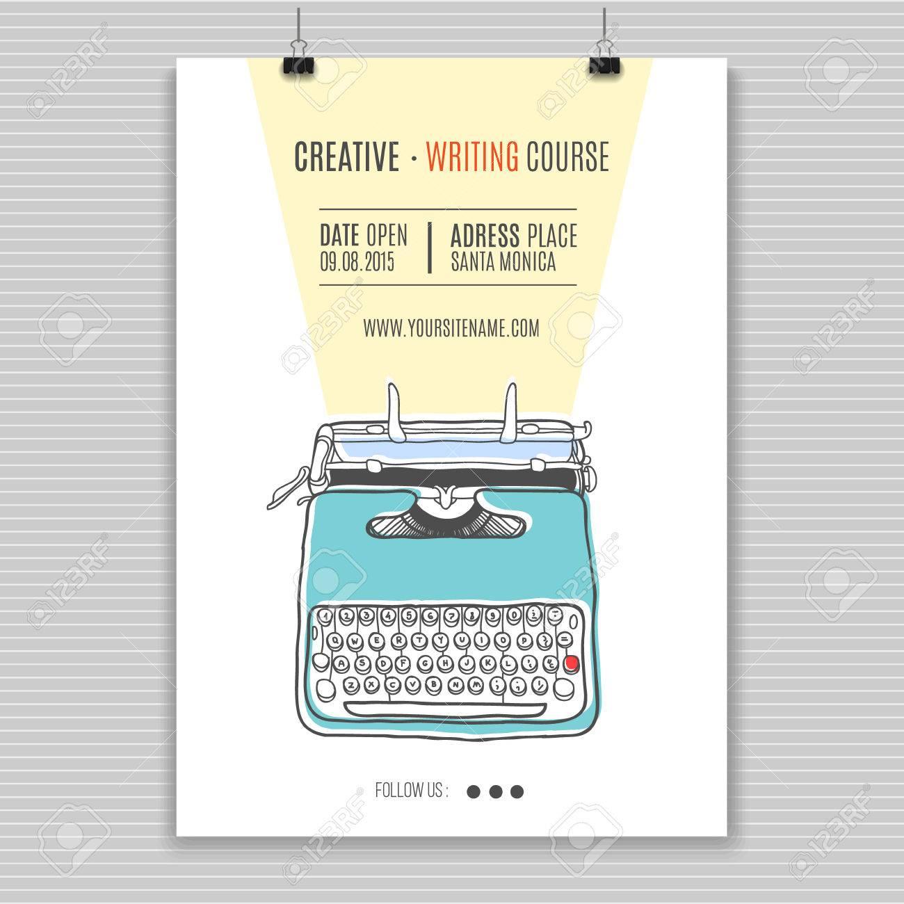 文章を作成するためのベクトル テンプレート コースの広告レトロ
