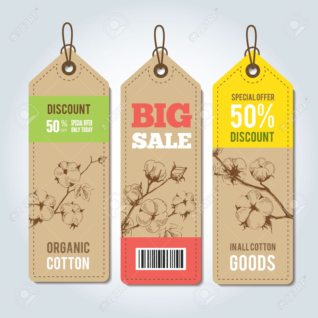 vector tags for clothing template natural cotton vector labels