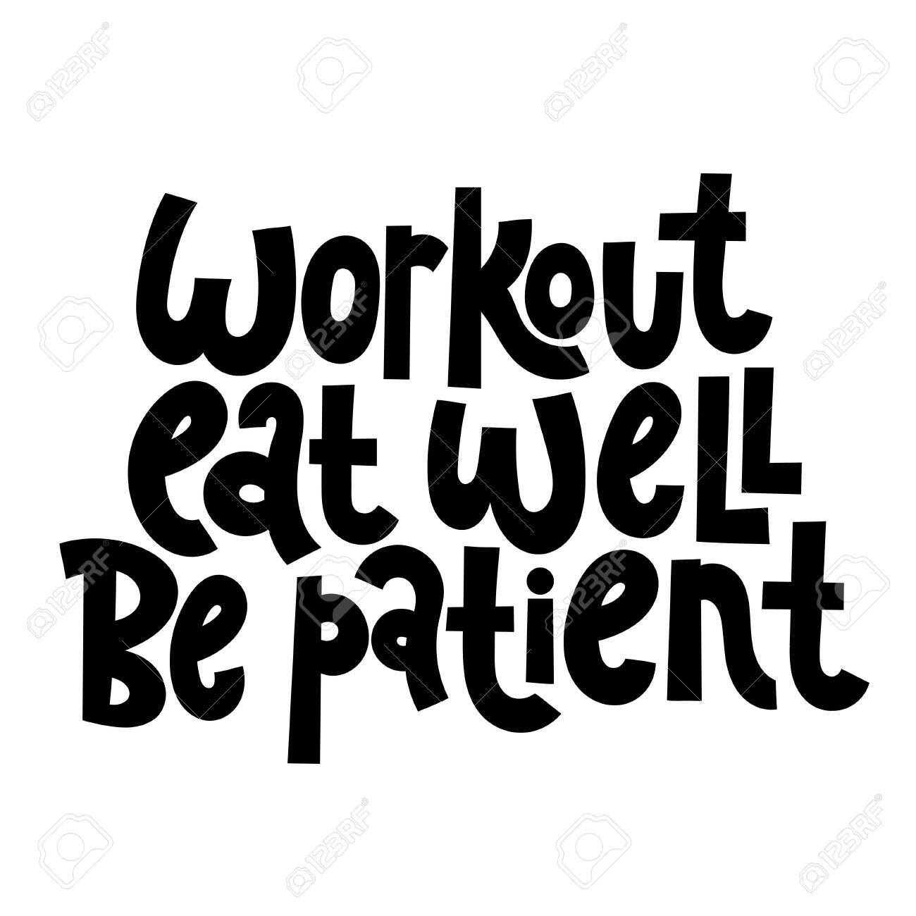 Fitness Motivational Quotes Royalty Free Cliparts Vectors And Stock Illustration Image 116131489