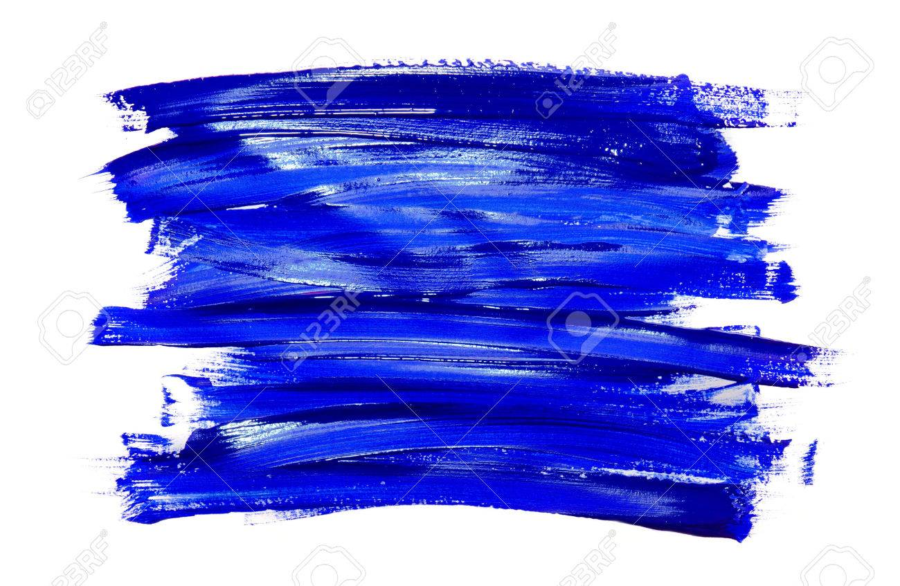 Paint Brush Stroke Texture Blue Watercolor Isolated On A White Background  Stock Photo   49212885