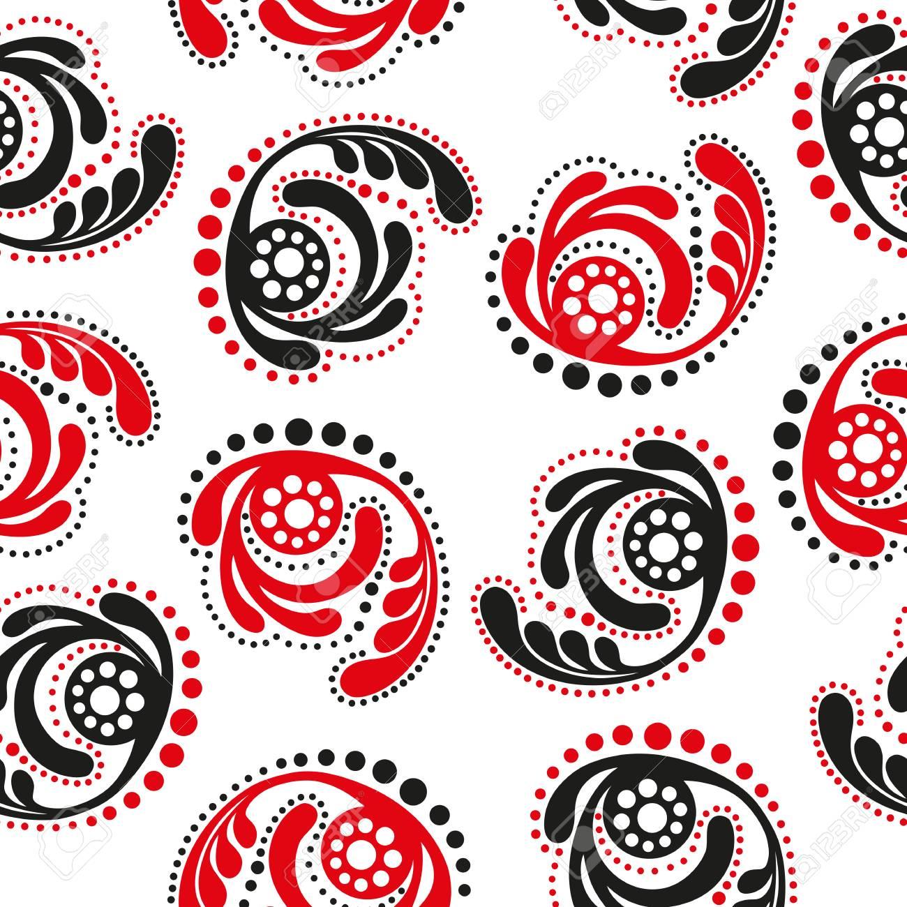 rot und schwarz abstrakte muster auf einem weien hintergrund nahtlose tapete standard bild - Tapete Rot Muster