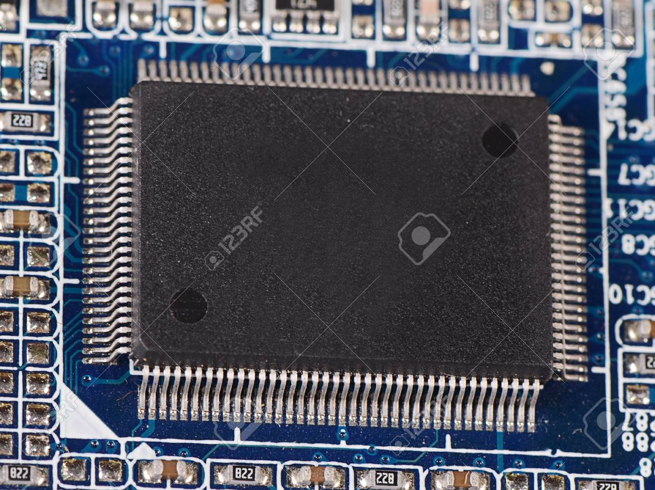 The details motherboard as a background  Macro