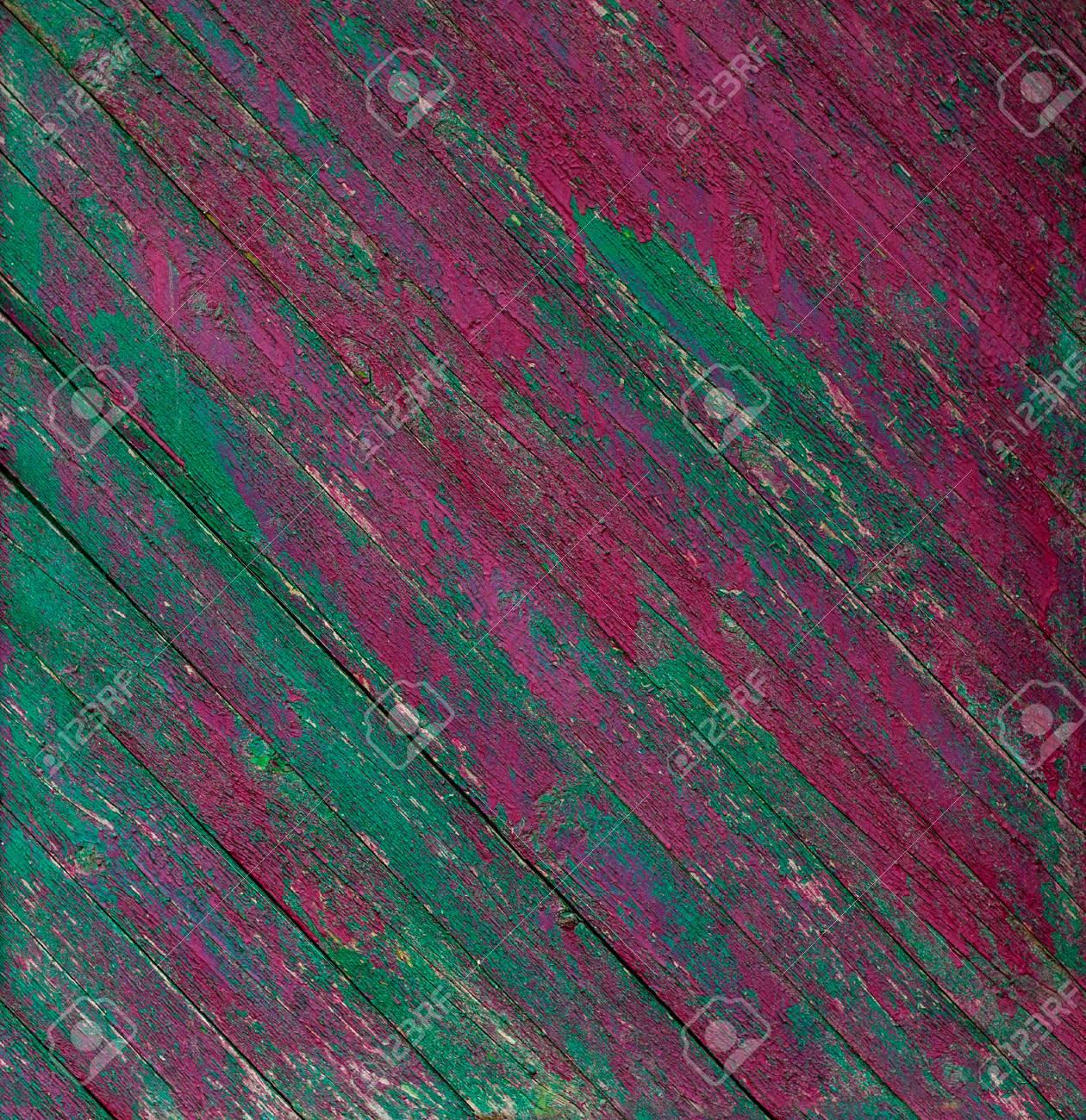 Vieux Rose En Bois Peint Rustique Et Clôture Verte Peinture