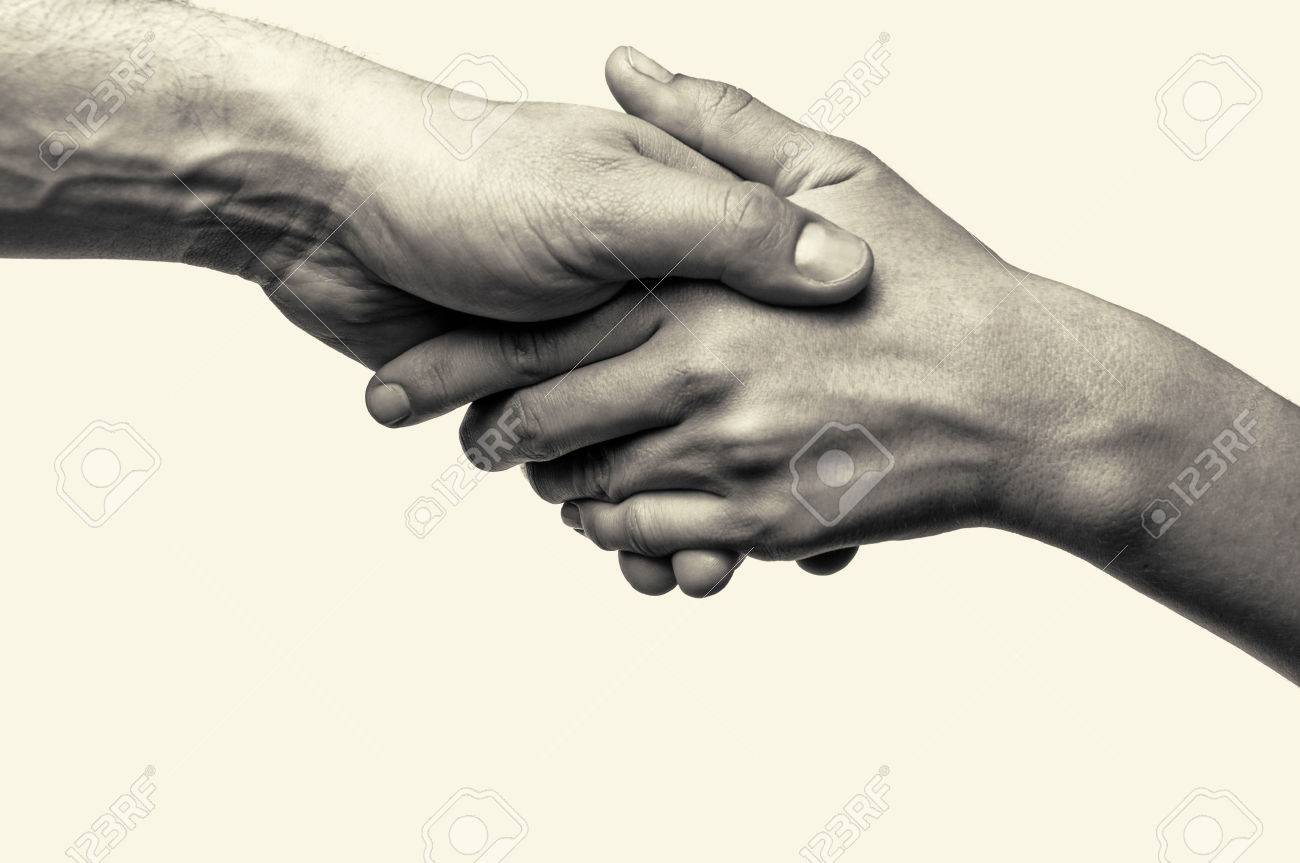 Two hands (helping hand to a friend) - 51616688