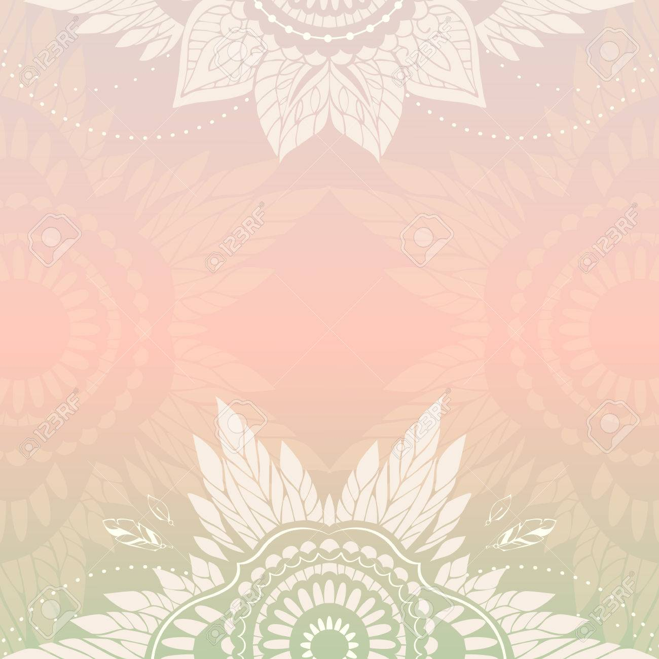 romantic vector templates in boho style can be used as invitations