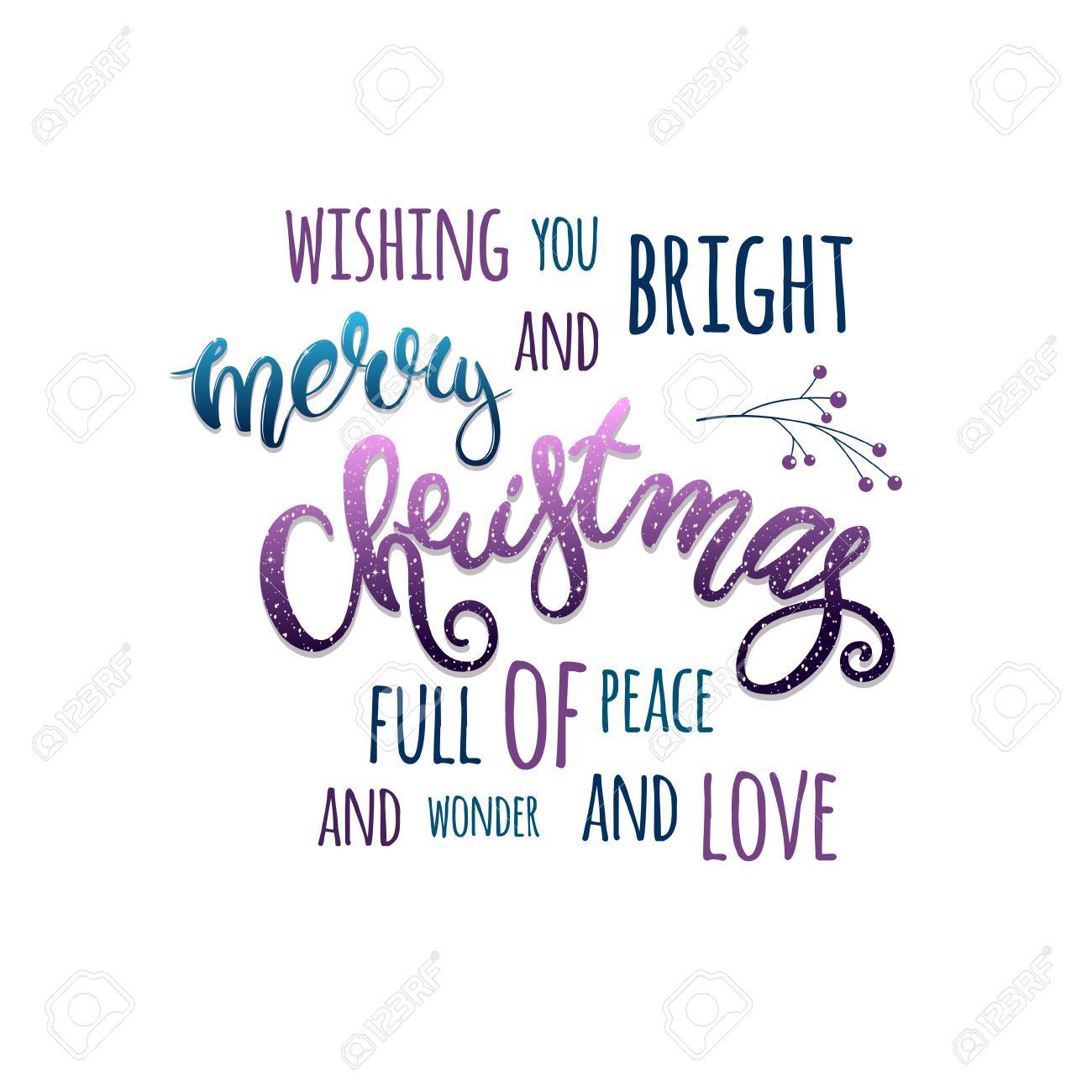wishing you bright and merry christmas full of peace and wonder