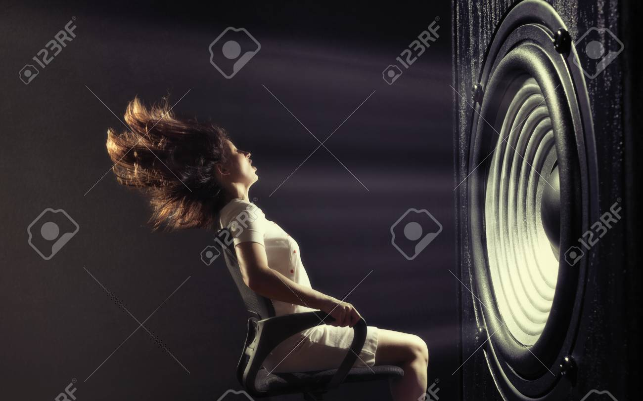 The powerful sound set back a young woman. - 100814242
