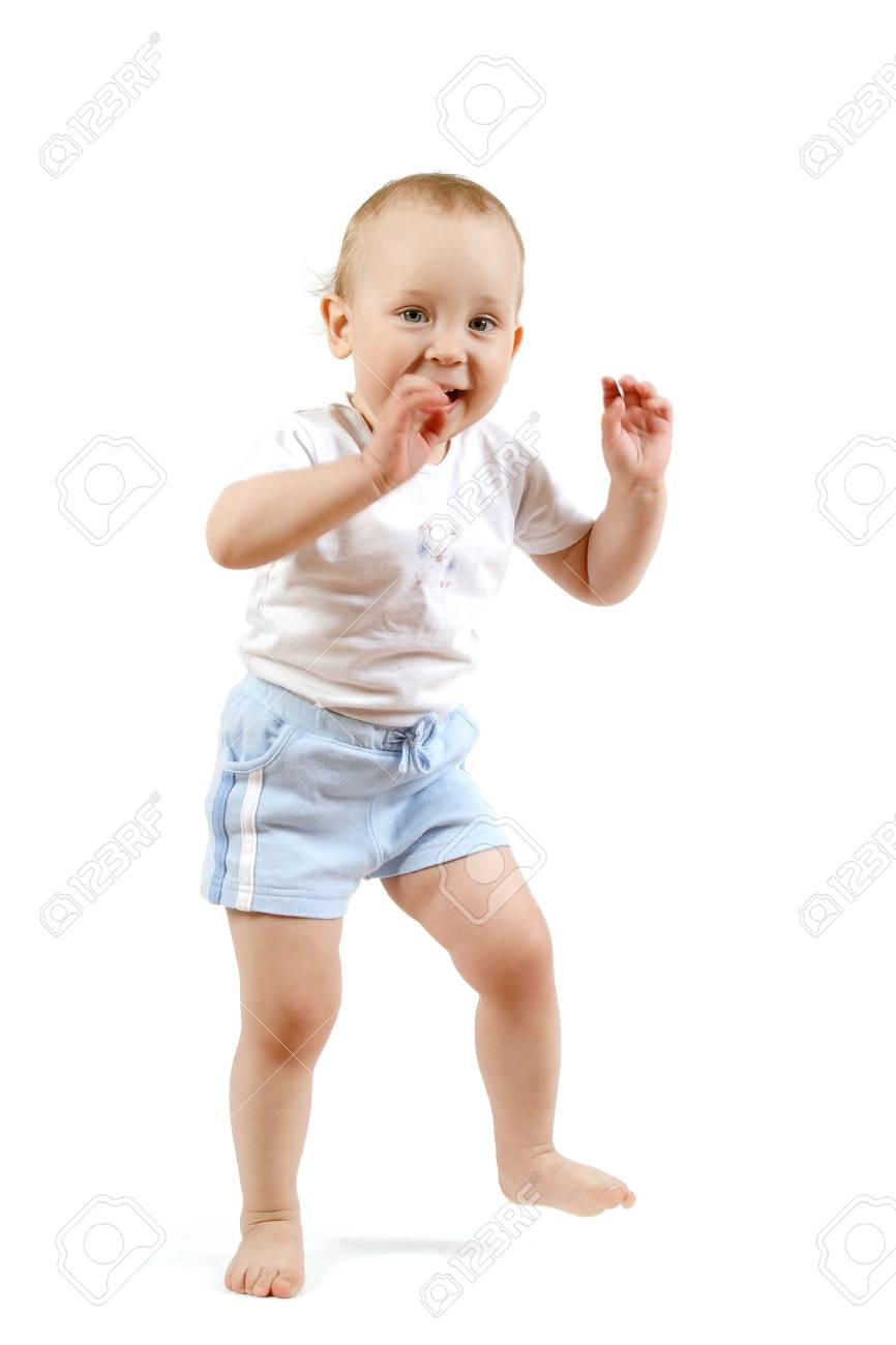 The small child on a white background Stock Photo - 4738922