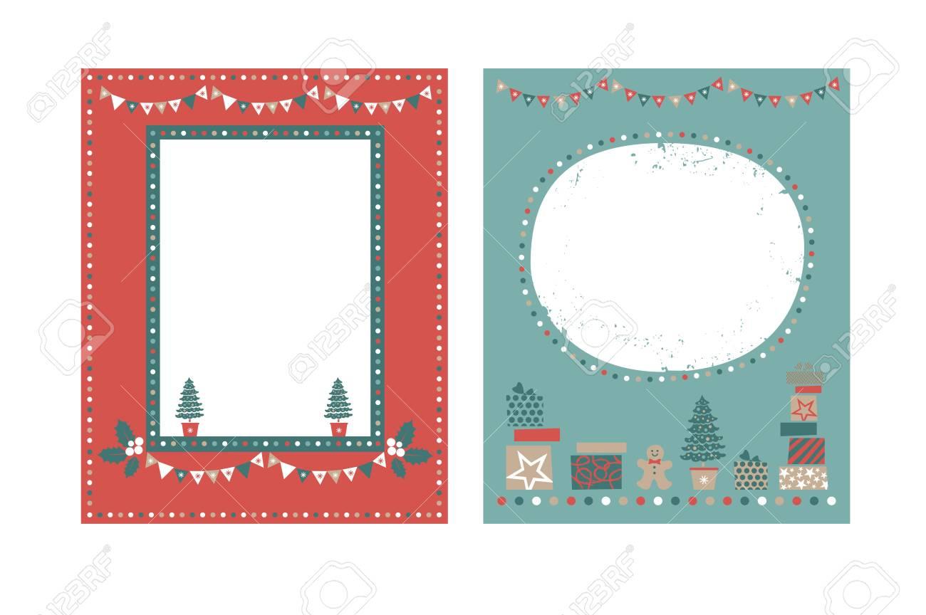 christmas frames set for congratulations invitations postcards