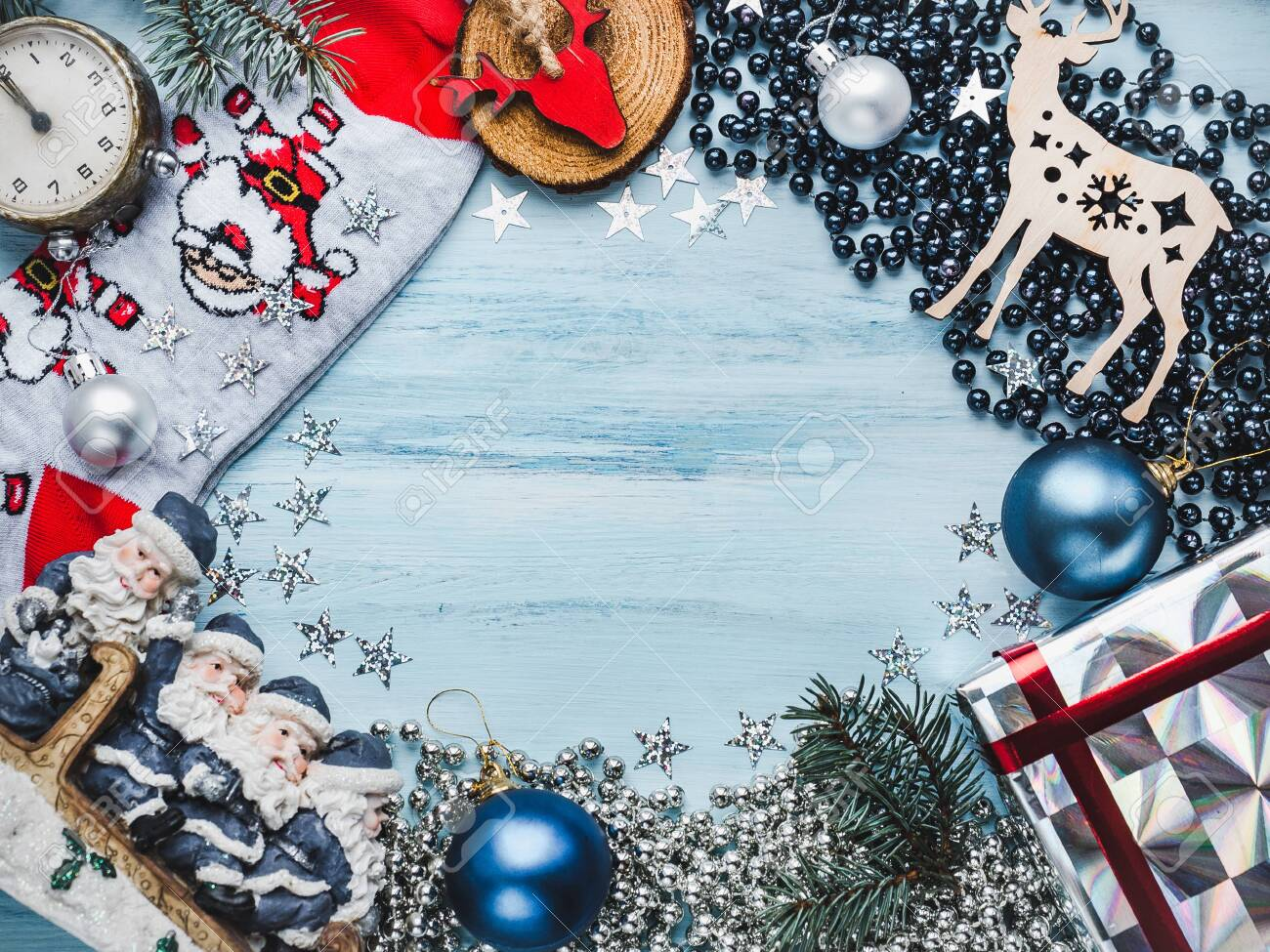 Christmas View Decoration 2020 Merry Christmas And Happy New Year 2020. Beautiful Card With