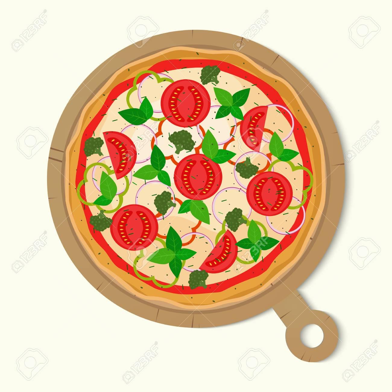 pizza vector illustration vegetarian pizza royalty free cliparts rh 123rf com pizza vectoriel gratuit pizza vectoriel gratuit
