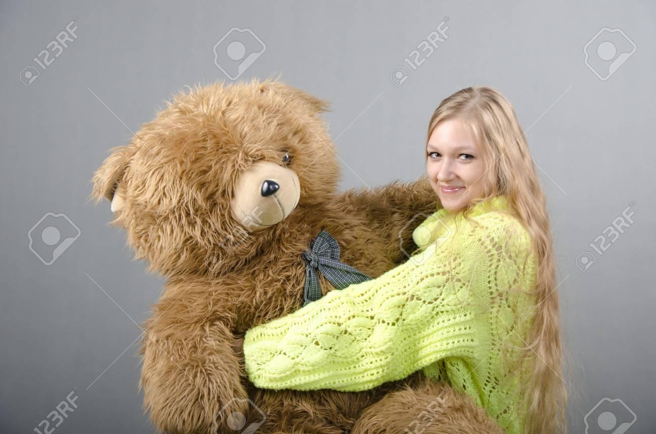 Girl in a teddy