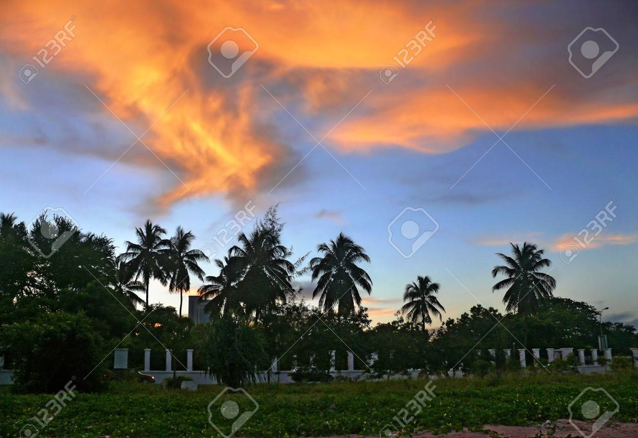 The presidential residence outside the fence. Tanzania, Africa, Dar es Salaam. Stock Photo - 27221060