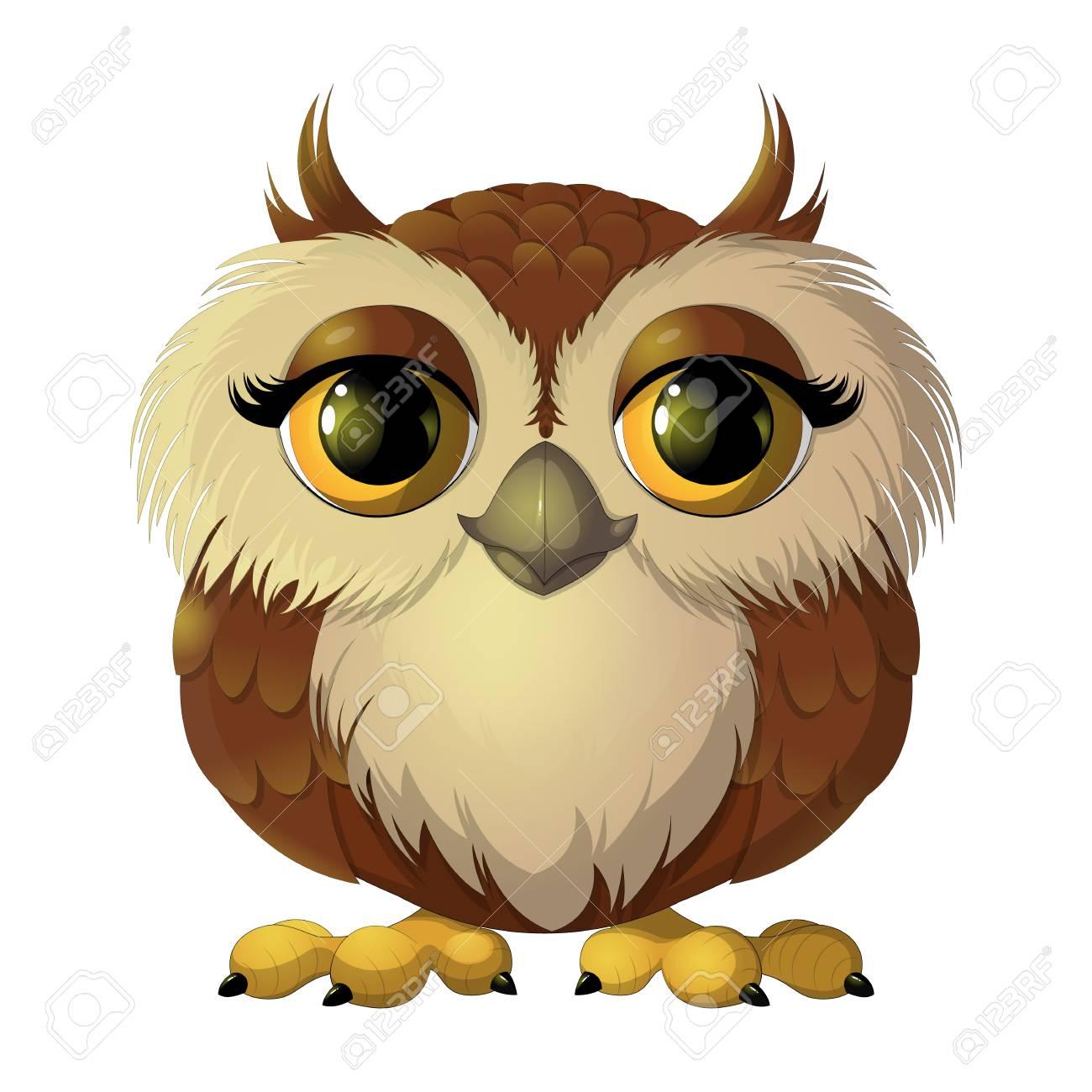 Cute brown owl Stock Vector - 75673672 280518d34a51